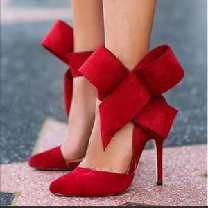 Bow Tie Red High Heels